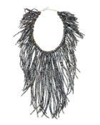 Crystal Fringe Statement Necklace