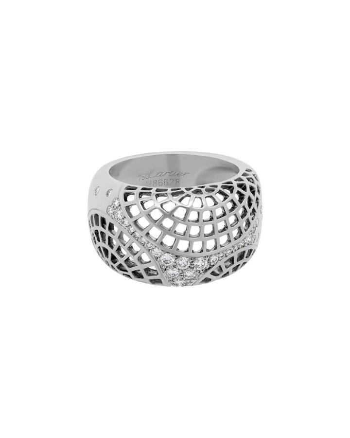 18k White Gold Nouvelle Vague Diamond Ring,