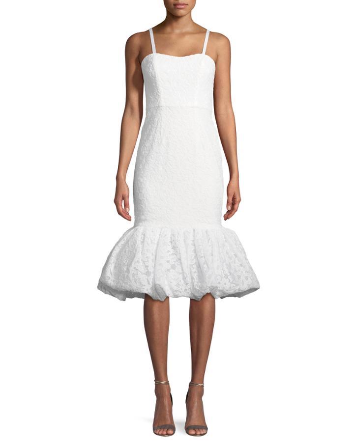 Tiffany Sleeveless Cocktail Dress W/ Dramatic Hem