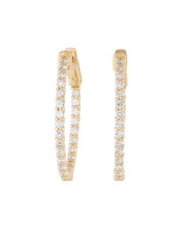 14k Lucida Diamond Hoop Earrings