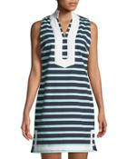 Sleeveless Striped Tunic Dress