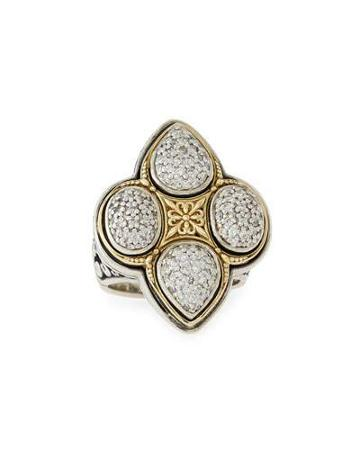 Pavé Diamond Clover Ring,