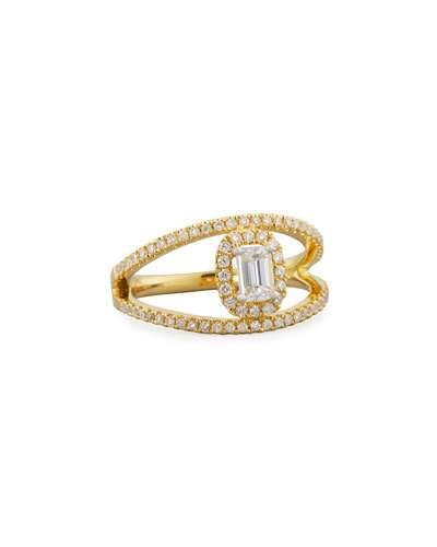 18k Split Diamond Ring, Size