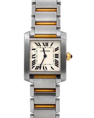 Pre-owned 18k Tank Francaise Bracelet Watch, Two-tone