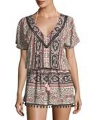 Graphic-print Coverup