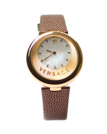 40.5mm Women's Half-moon Watch W/ Leather