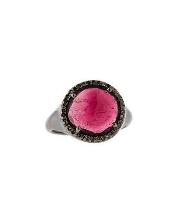 Rubelite & Diamond Cocktail Ring,