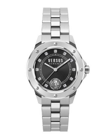 38mm South Horizons Crystal Watch W/ Bracelet Strap, Black/silver
