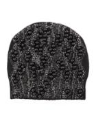 Pearly/jeweled Cashmere-blend Beanie