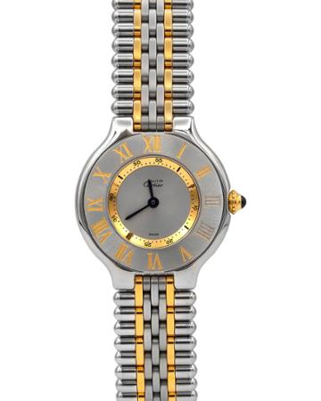 Pre-owned 28mm Must De Cartier 21 Bracelet Watch, Two-tone