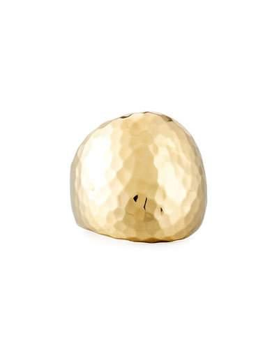 18k Hammered Dome Ring,