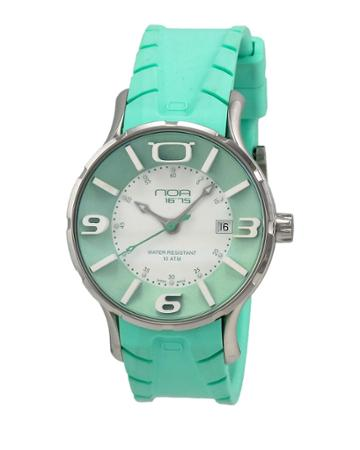 Rubber-strap Watch, Green/white