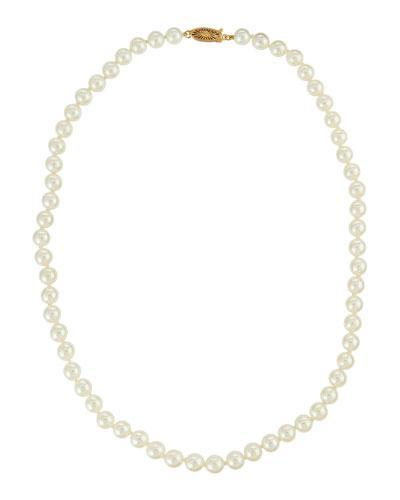 14k Akoya Pearl Necklace,