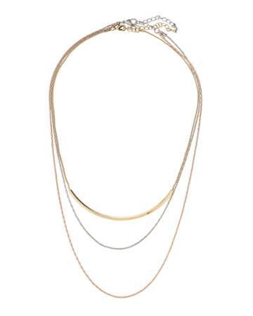 Tricolor Three-row Necklace