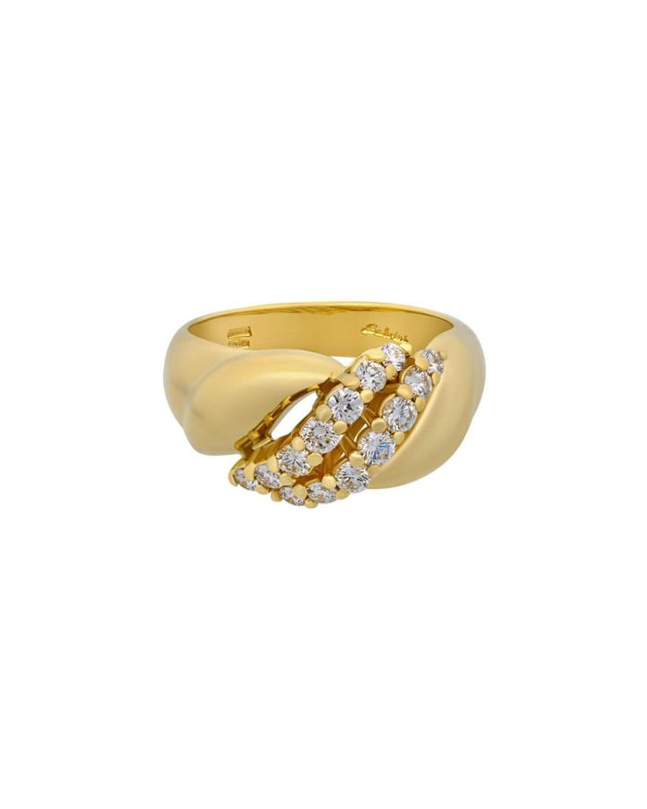 18k Split Diamond Ring,