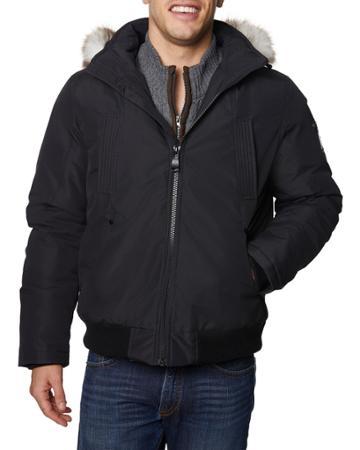 Men's Zip-up Bomber Jacket W/ Hood
