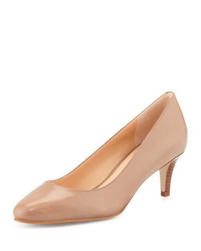 Lena Leather Mid-heel Pump,