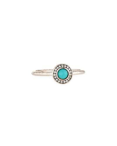Sterling Lollipop® Mini Ring In Turquoise & Diamonds,