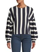 Striped Oversized Pullover Top
