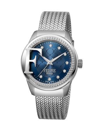 36mm Bracelet Watch W/ Logo Detail, Blue