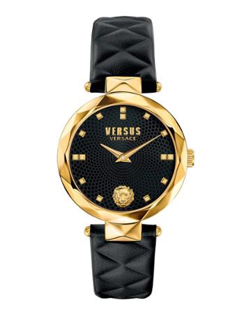 36mm Covent Garden Watch W/ Leather Strap, Gold/black