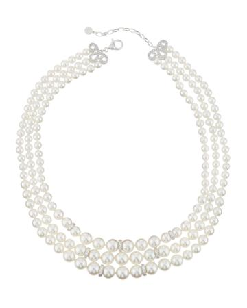 Triple-strand Pearly Necklace