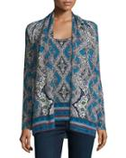 Medallion Open Cashmere Cardigan