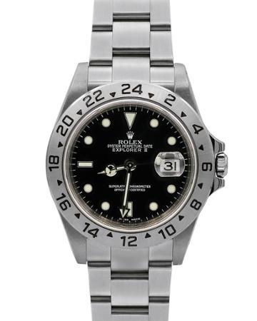Pre-owned 40mm Explorer Ii Bracelet Watch, Black