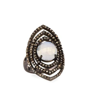 Moonstone Marquise Ring,
