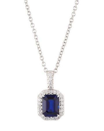 Asscher-cut Cz Crystal Pendant Necklace