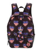 Cuori Canvas Backpack, Black