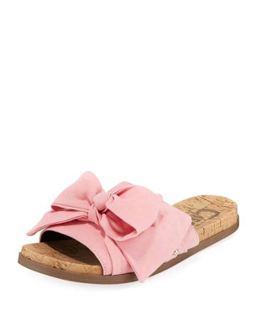 Ninette Flat Suede Bow