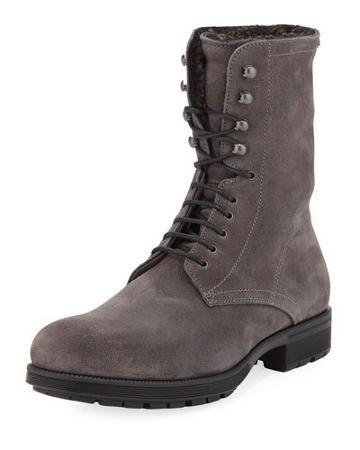 Hayden Fur-lined Boot, Gray