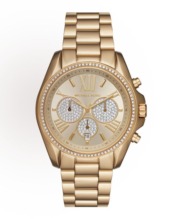 43mm Bradshaw Chronograph Bracelet Watch, Golden