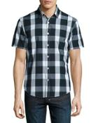 Short Plaid Short-sleeve Sport