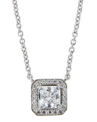 Cz Princess-cut Pendant Necklace