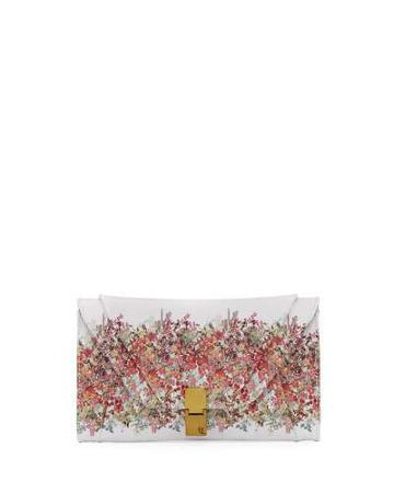 Cordoba Convertible Floral Faux-leather Clutch Bag