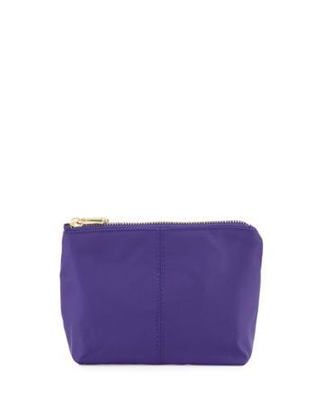 Neiman Marcus Taylor Small Zip Pouch, Sapphire (blue), Women's