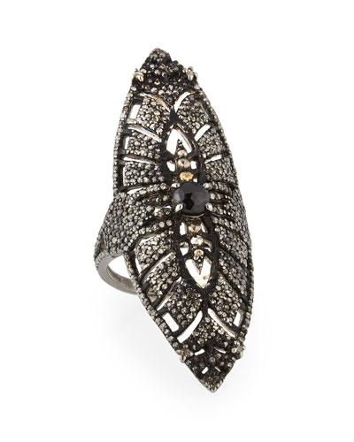 Pave Diamond & Spinel Cocktail Ring,
