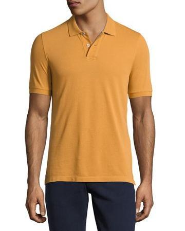 Piqué Polo Shirts, Rust White