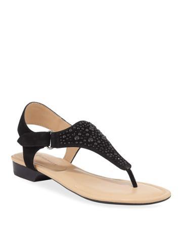 Yara Embellished Flat Thong