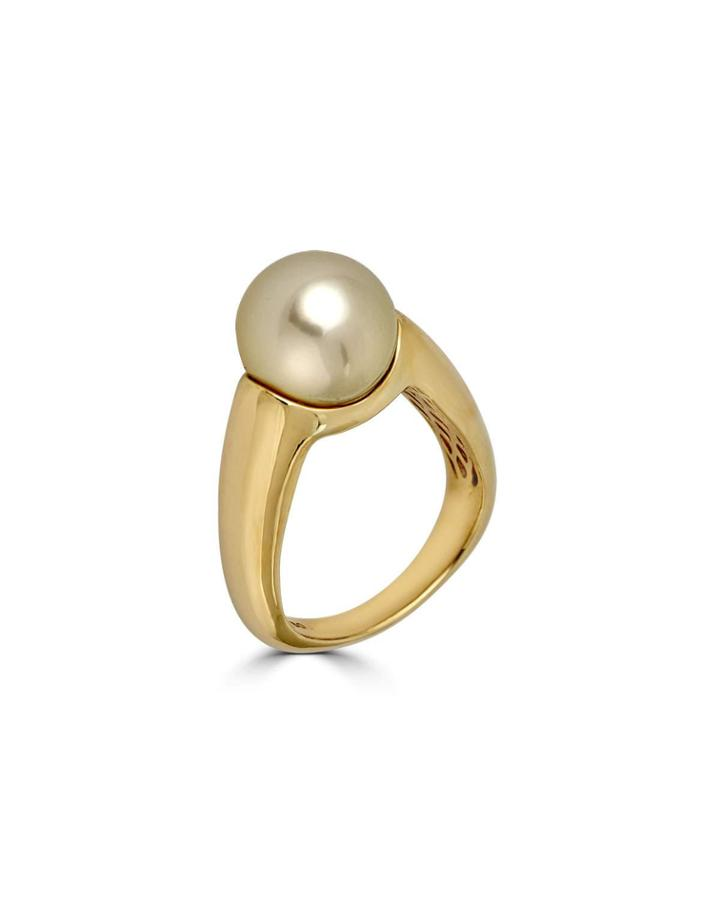 14k Golden South Sea Pearl Ring,