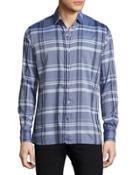 Plaid Cotton Sport Shirt,