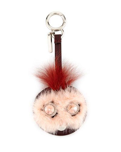 Bag Bugs Mirror Charm For Handbag, Pink/rust