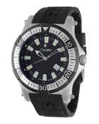 45mm Men's Rubber Hawk Watch,