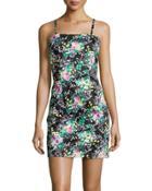 Sleeveless Floral-print Dress,