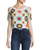 Crochet Short-sleeve Top