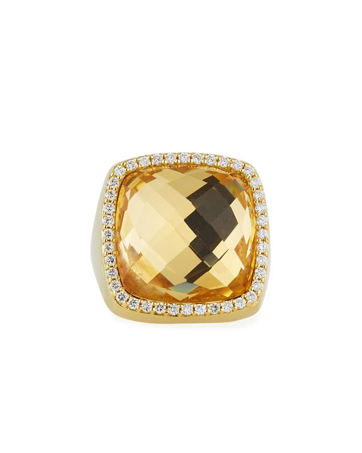 18k Diamond-trim Rock Crystal Ring,