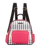 Medium Nylon Printed Backpack,