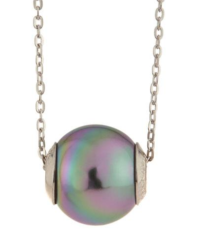 Gray Pearl Pendant Necklace